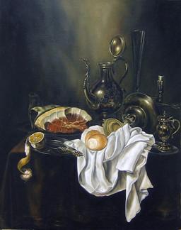 Натюрморт с серебряной посудой