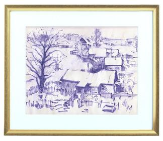 Вид из нашего окна на деревню Колонец (ул. Молодёжная, д. 21)