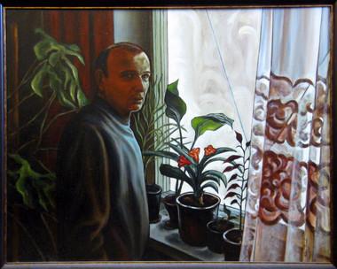 Кливия цветёт. Портрет В. П. Гринько