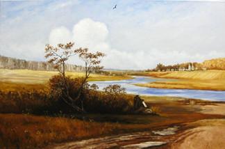 Художник на берегу реки