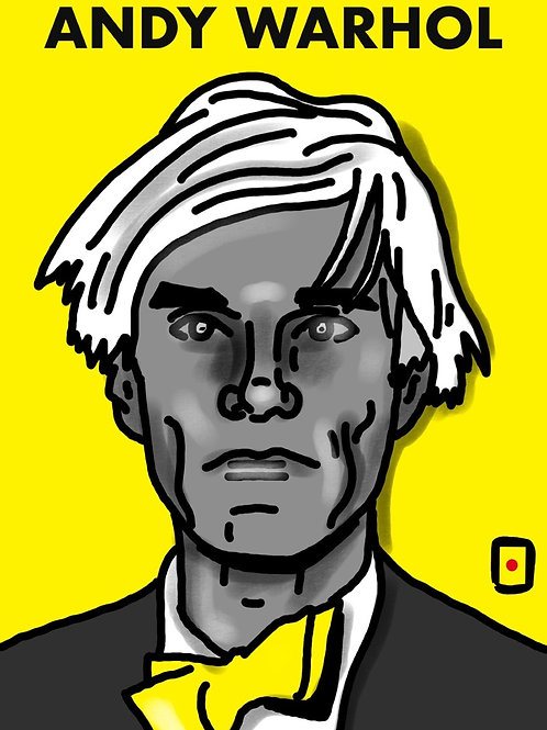 Max Skorwider , Andy Warhol, limited ed. digital print, 2021
