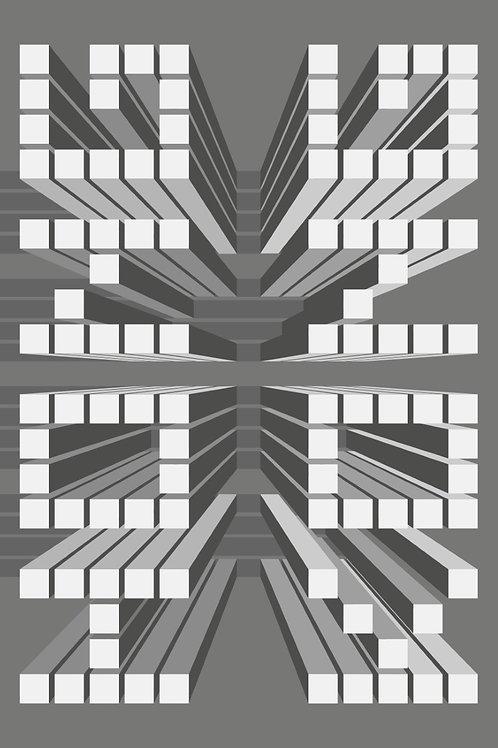 Monika Kosciuszko, Tribute to HK, limited ed. digital print, 2018