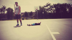 Father, Son, and a Basketball Court