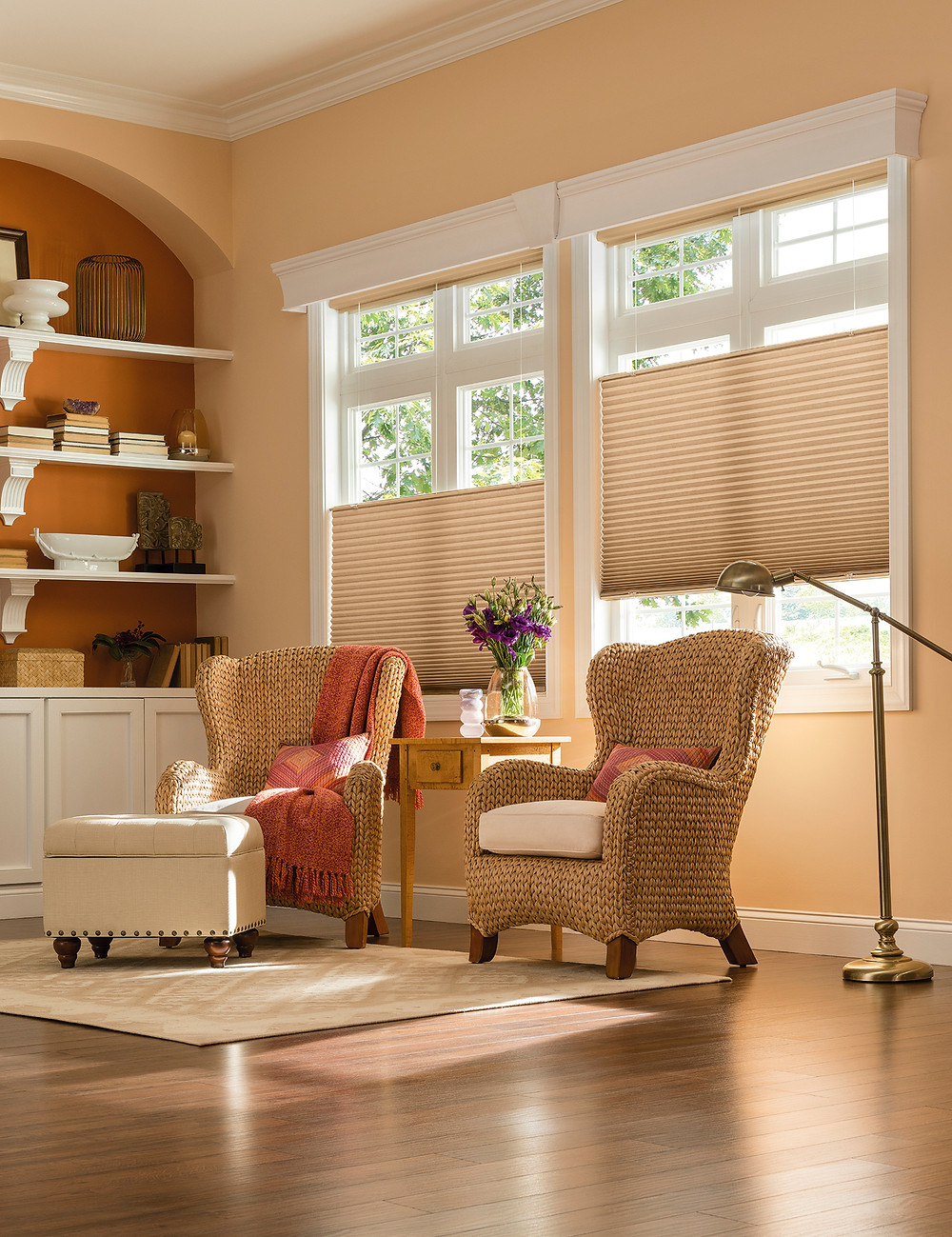 """3/4"""" Single Cell Bottom Up/Top Down Cellular Shades with Cordless Lift"""