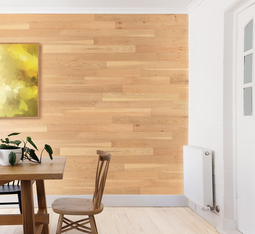 Wallplanks wood wall panels in Biscuit finish