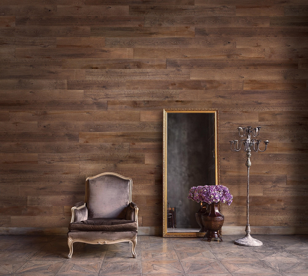 Wallplanks wood wall panels in Normandy finish