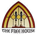 The Free House logo - transparent black