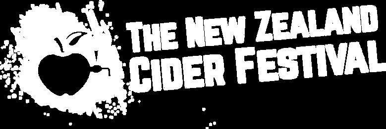 Cider Festival Logo - Horizontal - White