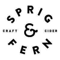 S & F - Cider Logo - Black Type White Ba