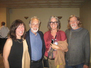 Markus Imhoff, Les Crowder, and friend from Backyard Beekeeping in LA meet Markus Imhoff, Director of More Than Honey after the Academy Award Screening