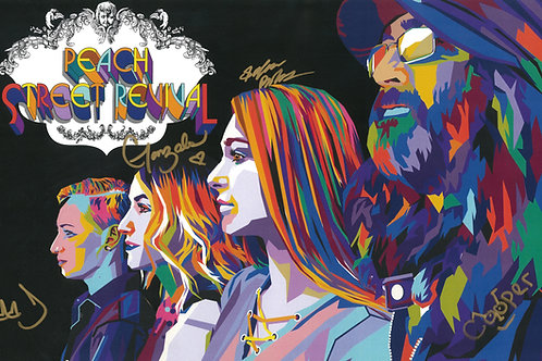 """Peach Street Revival 11""""x17"""" Autographed Poster"""