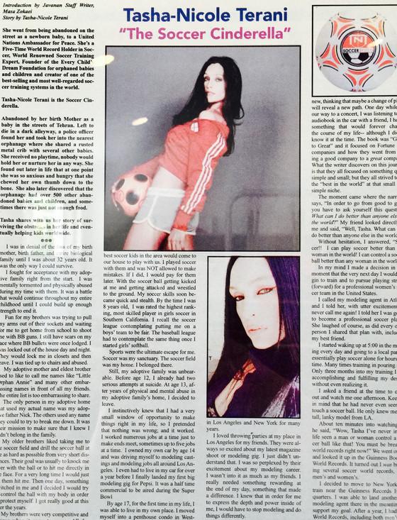 Tasha-Nicole -The Soccer Cinderella