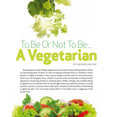 To Be Or Not To Be A Vegetarian