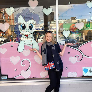 My Little Ponny Store Front Murals