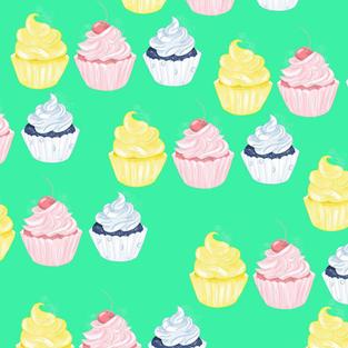 Patterns & Doodles - Cupcakes