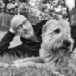 Poet Gary J. Whitehead and his dog