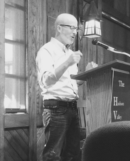 Poet Gary J. Whitehead reading at Hudson Valley Writers Center