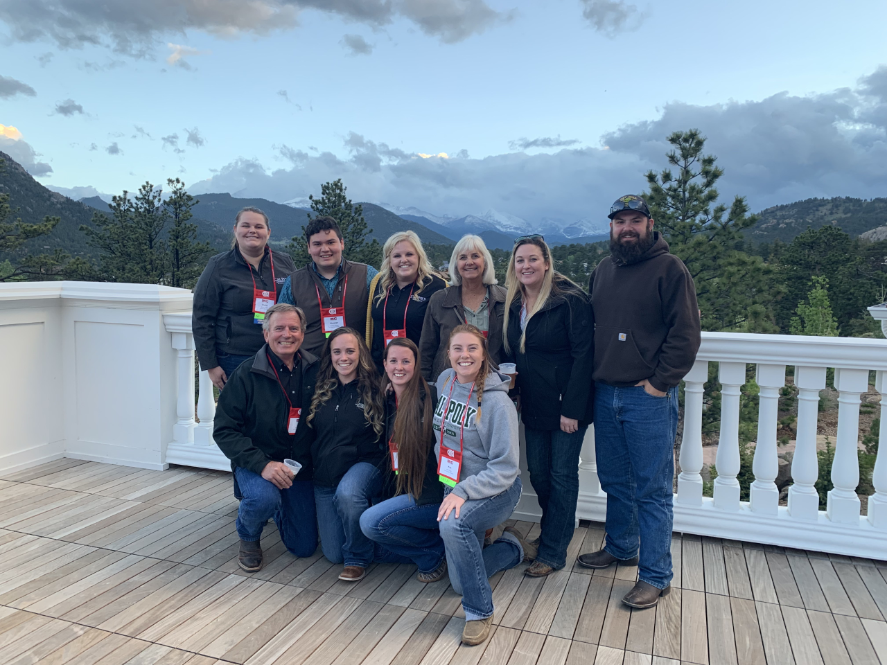 Cal Poly enjoying the views at the famous Stanley Hotel in Estes Park, CO.