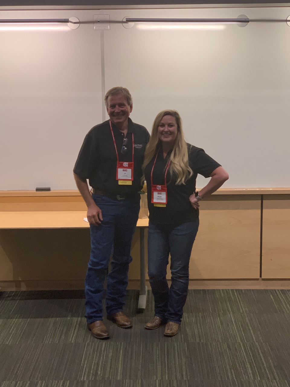 Jim and Morgan after presenting their reciprocal session.