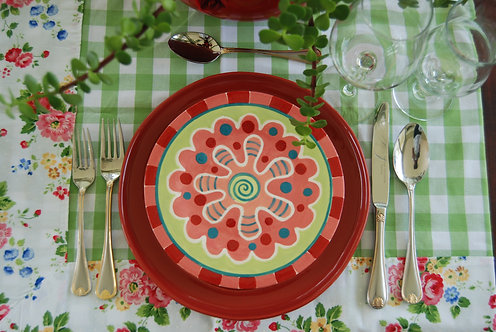 CARNIVAL RED DESIGN DINNER SET
