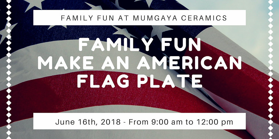 Family Fun - Make an American Flag Plate