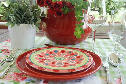 CARNIVAL RED DESIGN SALAD PLATE