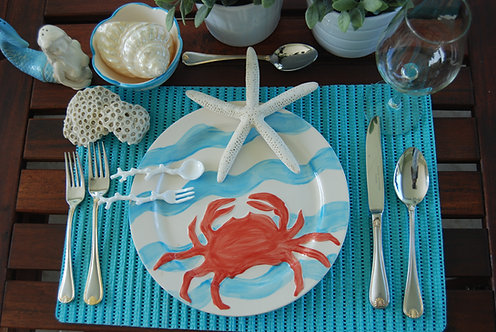 CRAB DESIGN DINNER SET