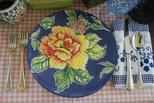 RIO BLUE DESIGN DINNER PLATE