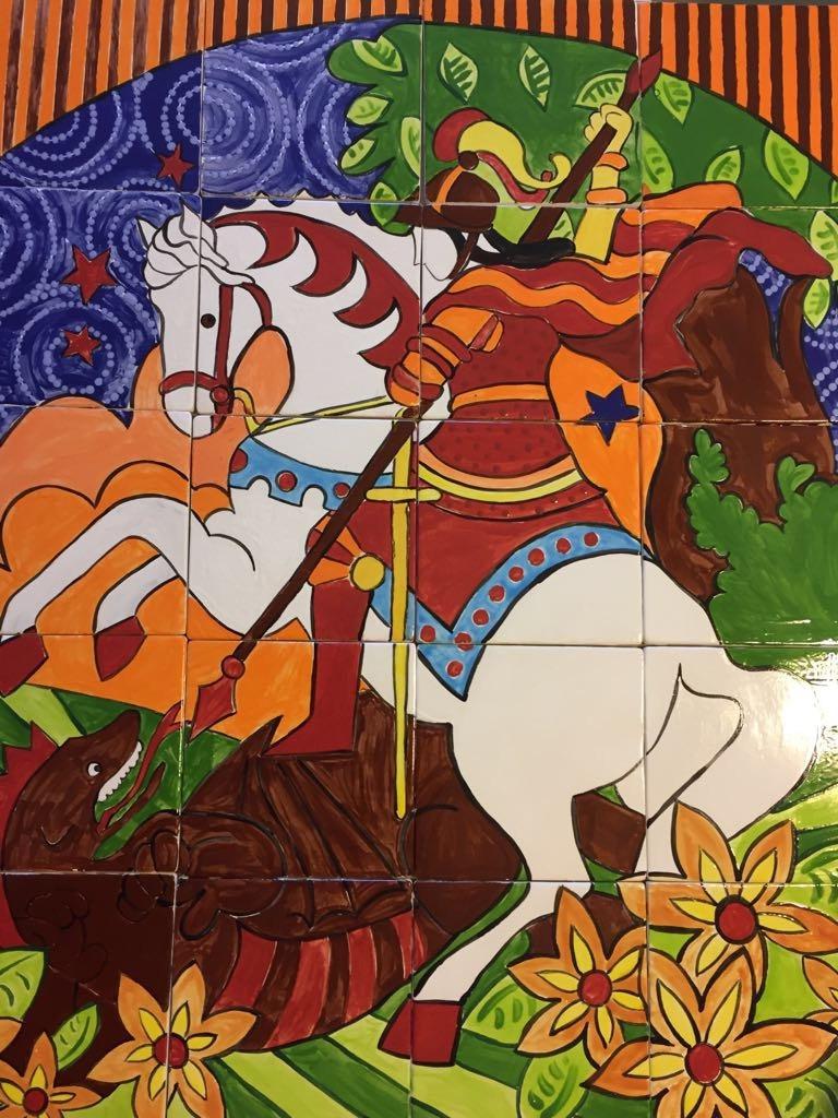 24 Tile Painel of St George MumGaya