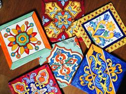 Hand painted tiles by MumGaya