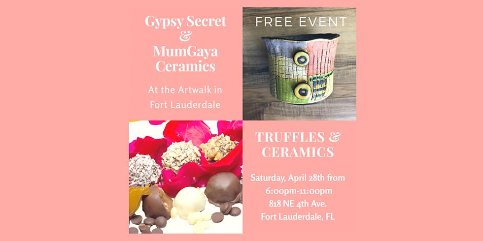 Gypsy Secret & MumGaya Ceramics at the Artwalk in April - Fort Lauderdale