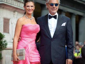 Andrea Bocelli wears Blackfin sunglasses