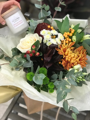 Autumn Bouquet with Candle