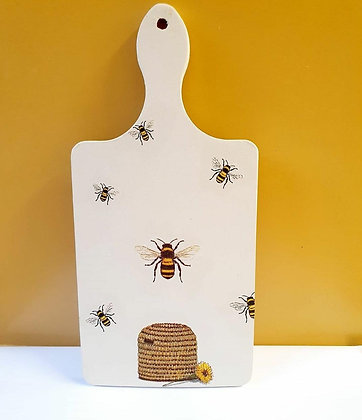 Save The Bees Decoupage Chopping Board