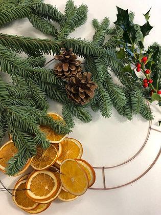 £45- Wreath Workshop- Saturday 4th December ( 7pm- 9pm )