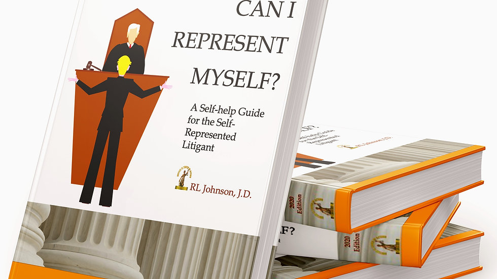 Can I Represent Myself? A Self-help Guide for the Self-Represented Litigant