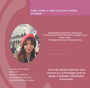 ❖Psicóloga em São Paulo; Acolhimento online ou presencial