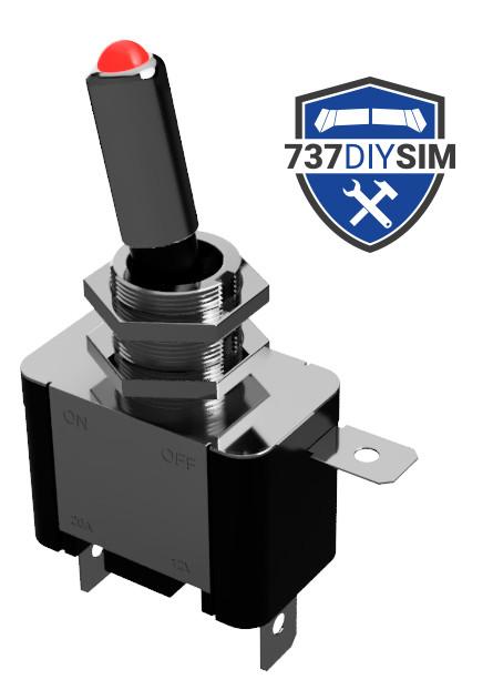 LED 12v Toggle Switch