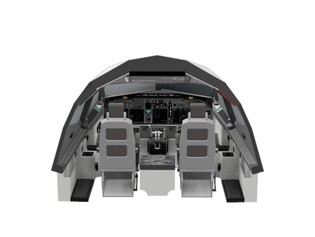 The Full 737 cockpit design is in the shop!