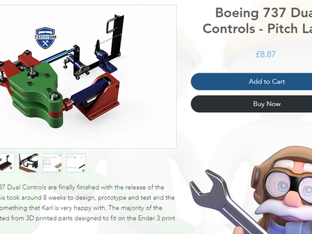 Boeing 737 Dual Control Pitch Channel - 3D Printed Design Now Released