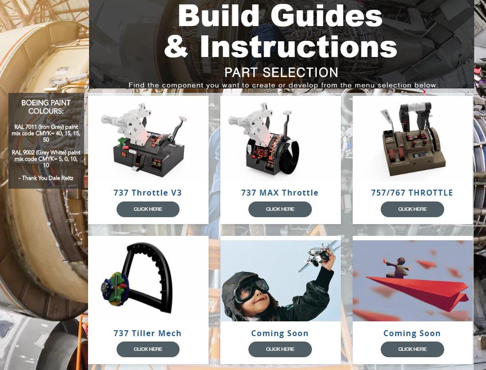 737 Build Guides for 737DIYSIM