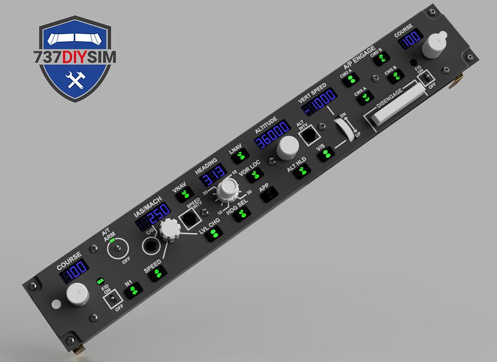 737DIYSIM CAD design in fusion, creating a DXF