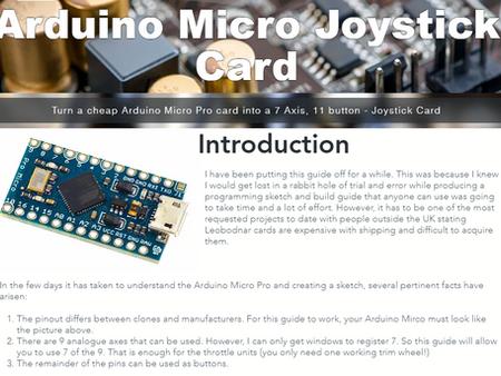 Micro Pro Joystick Guide