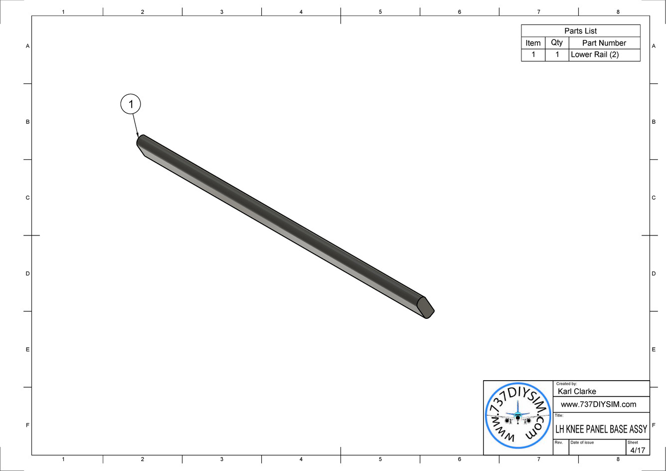LH KNEE PANEL BASE ASSY Drawing v1-page-
