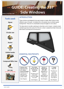 737 Side Windows, Plans and Dimensions with build guide