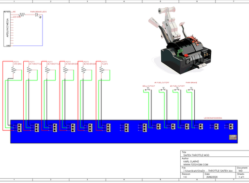 Saitek Throttle MOD Wiring Diagram
