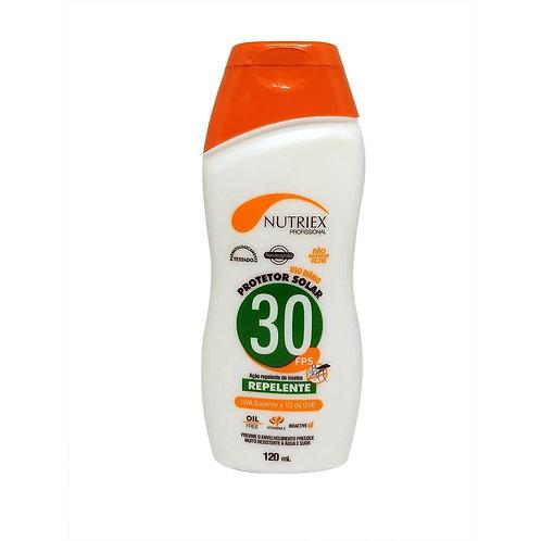 Protetor Solar C/ Repelente 30FPS Nutriex 120ml