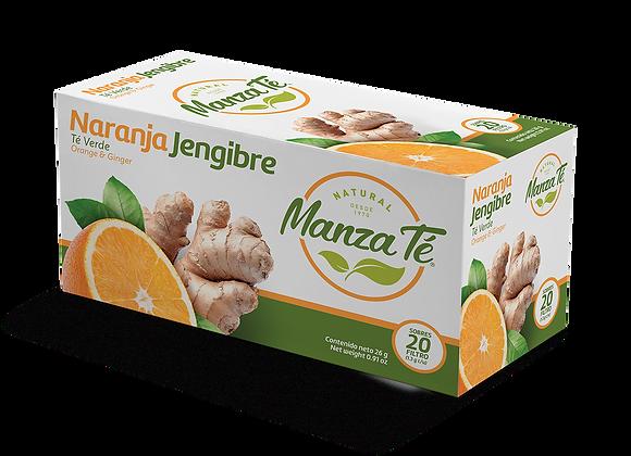 Manza té - Té verde Naranja Jengibre