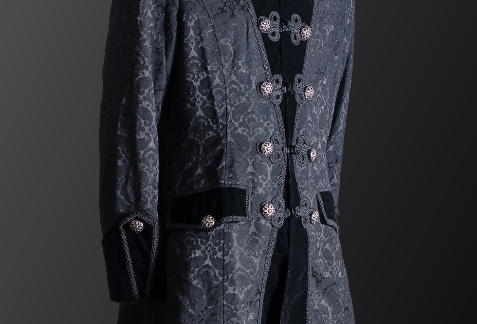 Military Style Steampunk Gothic Frock Coat