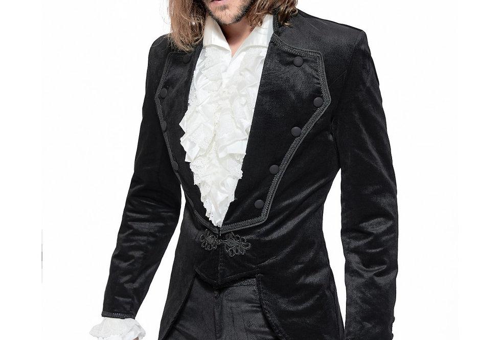 Elegant Gothic Black Velvet Jacket